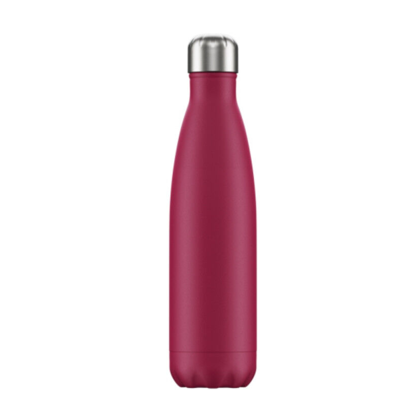 BOTELLA INOX FUCSIA MATE 500 ml.