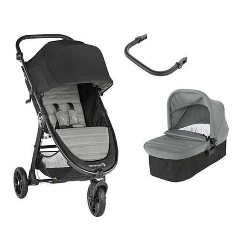 Baby Jogger City Mini GT2 DUO - Slate (Capazo + Barra)